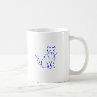 Gato azul taza