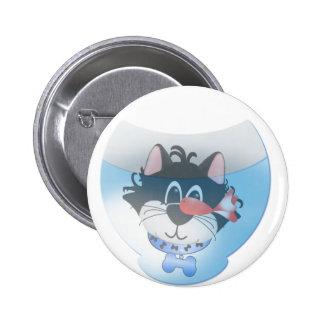 Gato azul y camisetas y regalos de Fishbowl Pins