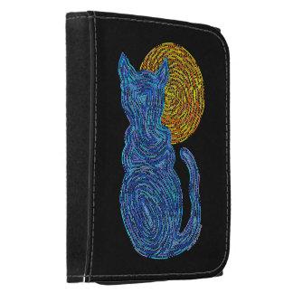 Gato azul y el billetero del arte abstracto de la