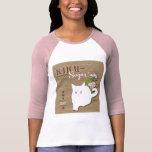 Gato blanco camisetas