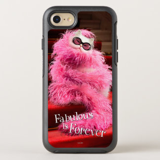 Gato blanco de la diva envuelto en boa rosada en funda OtterBox symmetry para iPhone 7