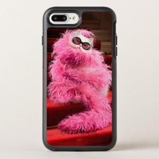Gato blanco de la diva envuelto en boa rosada en funda OtterBox symmetry para iPhone 7 plus