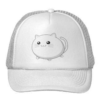 Gato blanco del gatito del kawaii lindo gorras