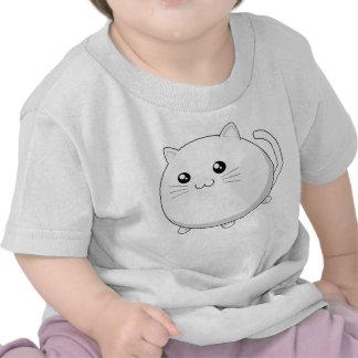 Gato blanco del gatito del kawaii lindo camiseta