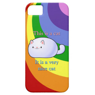 Gato blanco iPhone 5 fundas