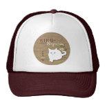 Gato blanco gorras