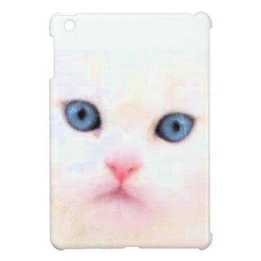 Gato blanco iPad mini protectores