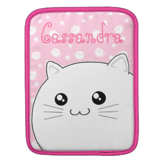 Gato blanco lindo del gatito de Kawaii Fundas Para iPads