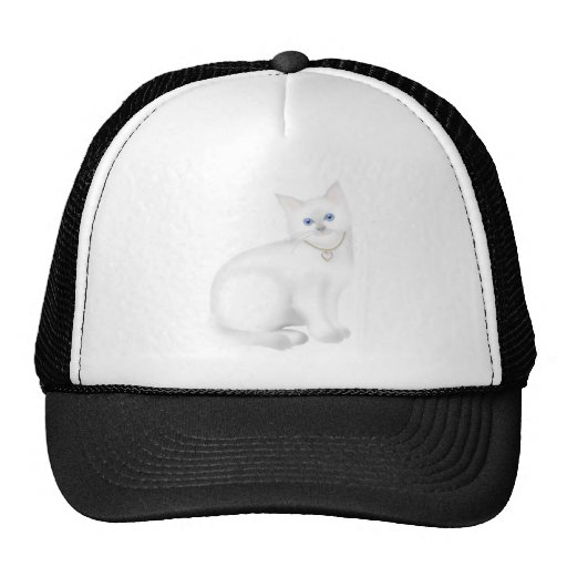 Gato blanco lindo del gatito del gatito gorras
