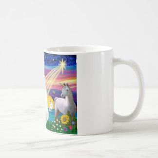 Gato blanco - noche mágica taza de café