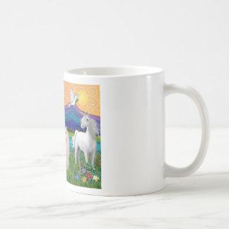 Gato blanco persa - tierra de la fantasía tazas