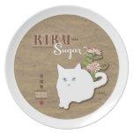 Gato blanco plato