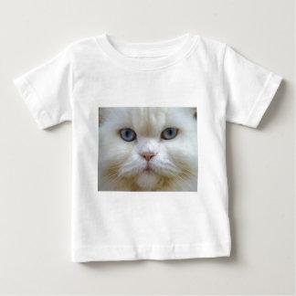 Gato blanco playera para bebé