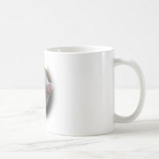 Gato blanco taza de café
