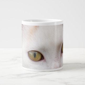 Gato blanco tazas extra grande