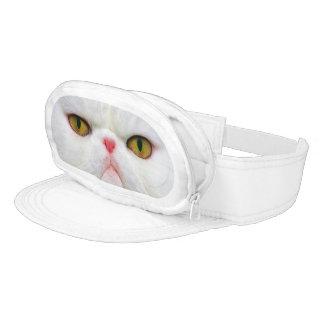 Gato blanco visera