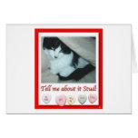 Gato blanco y negro de la tarjeta del día de San V