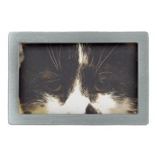 Gato blanco y negro de Monty Hebilla Cinturon