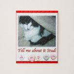 Gato blanco y negro del el día de San Valentín Puzzle Con Fotos