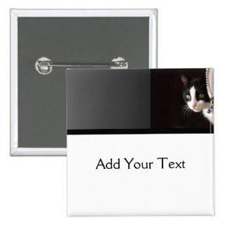 Gato blanco y negro del Peekaboo Pin
