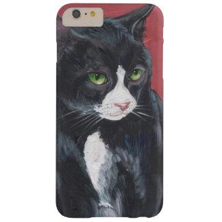 Gato blanco y negro del smoking funda de iPhone 6 plus barely there