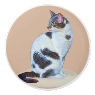 Gato blanco y negro, personalizable
