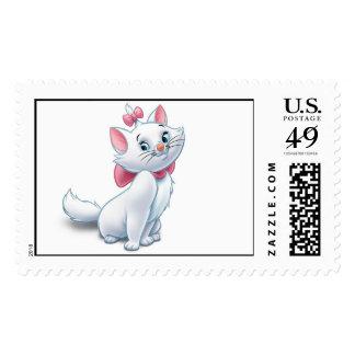 Gato blanco y rosado Disney de Aristocats lindo Estampillas
