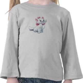 Gato blanco y rosado Disney de Aristocats lindo Camiseta