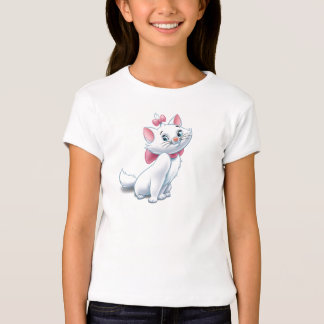 Gato blanco y rosado Disney de Aristocats lindo Poleras