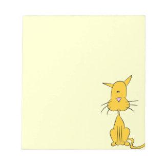 gato bloc de notas