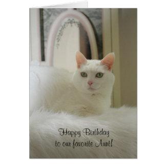 Gato bonito/cumpleaños femenino felicitacion