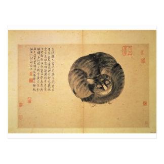 Gato (bosquejos a partir de la vida) por Shen Zhou Postales