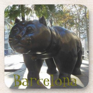 Gato Botero de Barcelona Posavasos De Bebidas