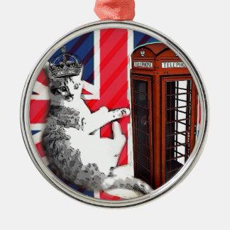 gato británico de la cabina de teléfono de Londres Ornamente De Reyes