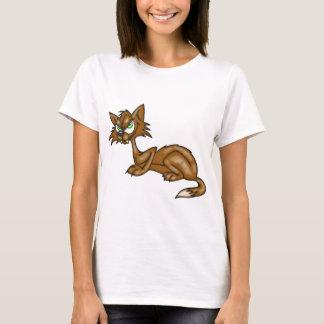 Gato callejero de Brown del dibujo animado Playera