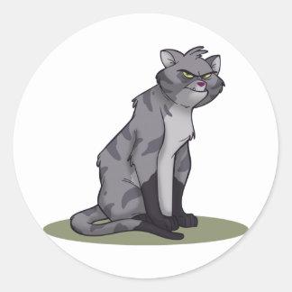 Gato callejero pegatina redonda