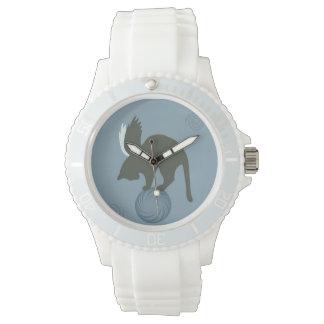 Gato caprichoso relojes de pulsera