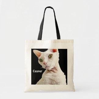 Gato Casper de Devon Rex del blanco del bolso el   Bolsa Tela Barata