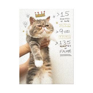 Gato Celeberity del Internet Impresiones En Lona