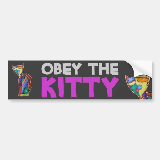 Gato celestial etiqueta de parachoque