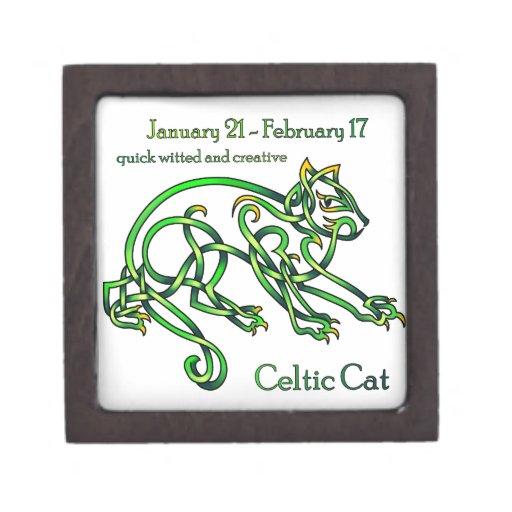 Gato céltico caja de recuerdo de calidad