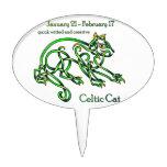 Gato céltico decoración de tarta