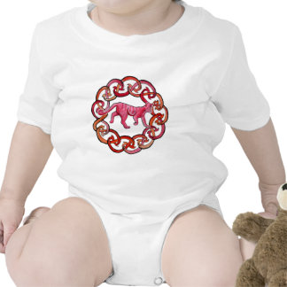 Gato céltico disimulado trajes de bebé