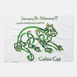 Gato céltico toallas de mano
