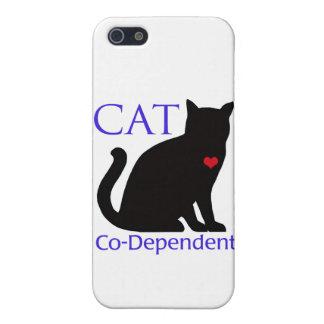 Gato Co-Dependiente iPhone 5 Fundas