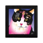 Gato colorido caja de joyas