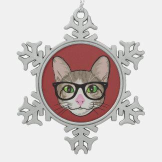 Gato colorido del inconformista adorno