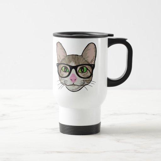 Gato colorido del inconformista tazas de café