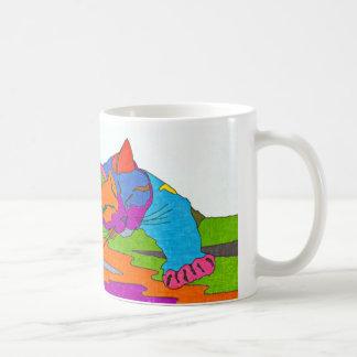 Gato colorido taza