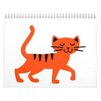 Gato cómico calendario de pared